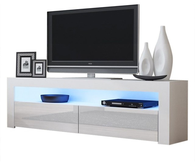 """Tv Stand Milano Classic White Body Modern 65"""" Tv Stand Led With Regard To Milano 200 Wall Mounted Floating Led 79"""" Tv Stands (View 6 of 20)"""