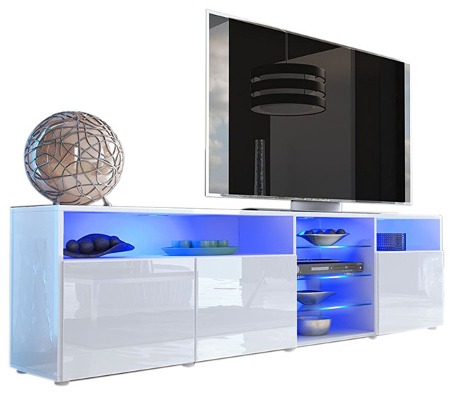 Tv Stand Roma Matte Body High Gloss Doors Modern Tv Stand For Solo 200 Modern Led Tv Stands (View 6 of 20)