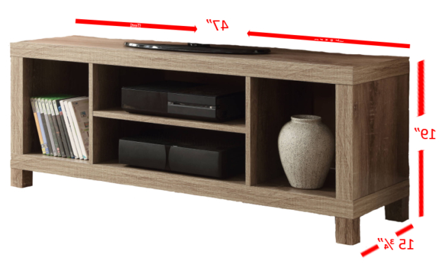 Tv Stand Unit With Cabinet Console Swivel Shelves Regarding Mainstays 4 Cube Tv Stands In Multiple Finishes (View 1 of 20)