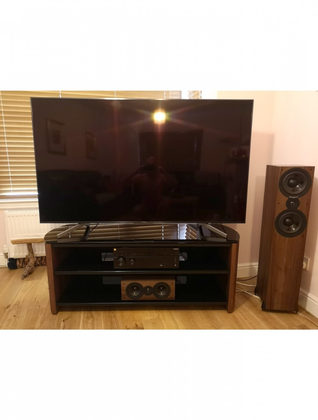 Tv Stands – Alphason Fw1350 W/b Finewoods Tv Stand | 121 Pertaining To 57'' Tv Stands With Open Glass Shelves Gray & Black Finsh (View 12 of 20)