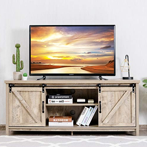Tv Stands & Entertainment Centers | Farmhouse Touches – Part 2 Inside Farmhouse Sliding Barn Door Tv Stands For 70 Inch Flat Screen (View 9 of 20)