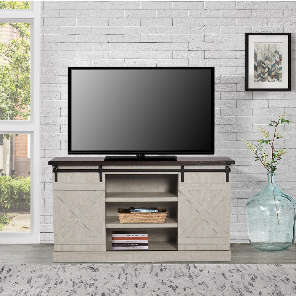 Tv Stands For 65 Inch Tv, Yofe Rustic Farmhouse Tv Stand Intended For Tv Stands With Sliding Barn Door Console In Rustic Oak (View 18 of 20)