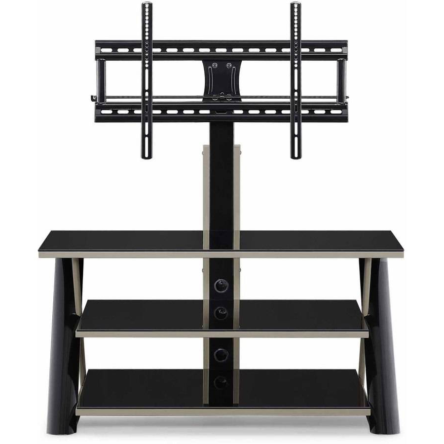 """Tv Stands For Flat Screens With Mount Black Holds Up To With Glass Shelves Tv Stands For Tvs Up To 65"""" (View 10 of 20)"""