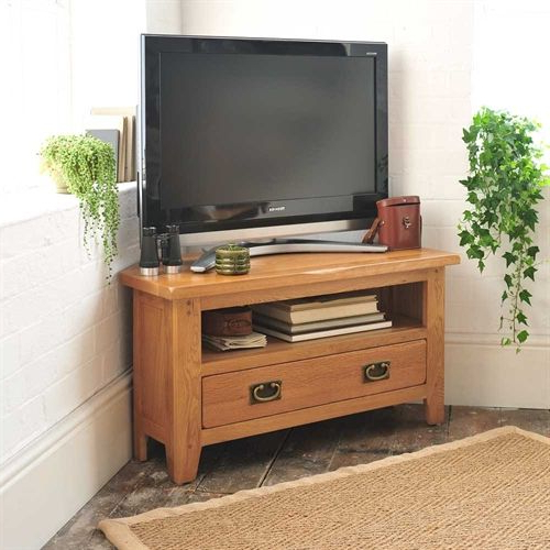 Tv Stands   Oak, Solid Wood And White Tv Stands   The Within Cotswold Widescreen Tv Unit Stands (View 4 of 20)