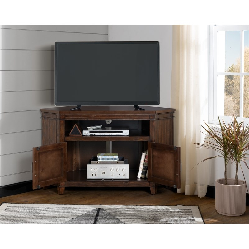 """Tv Stands On Sale : Corner Tv Stand   Television Stand Pertaining To Del Mar 50"""" Corner Tv Stands White And Gray (View 16 of 20)"""