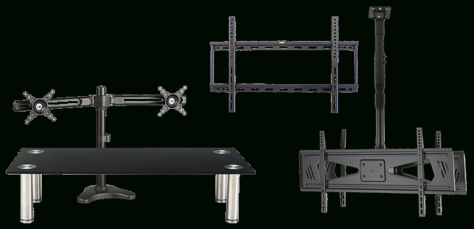 Tv Stands   Portable Flat Screen Displays Pertaining To Easyfashion Modern Mobile Tv Stands Rolling Tv Cart For Flat Panel Tvs (View 4 of 20)