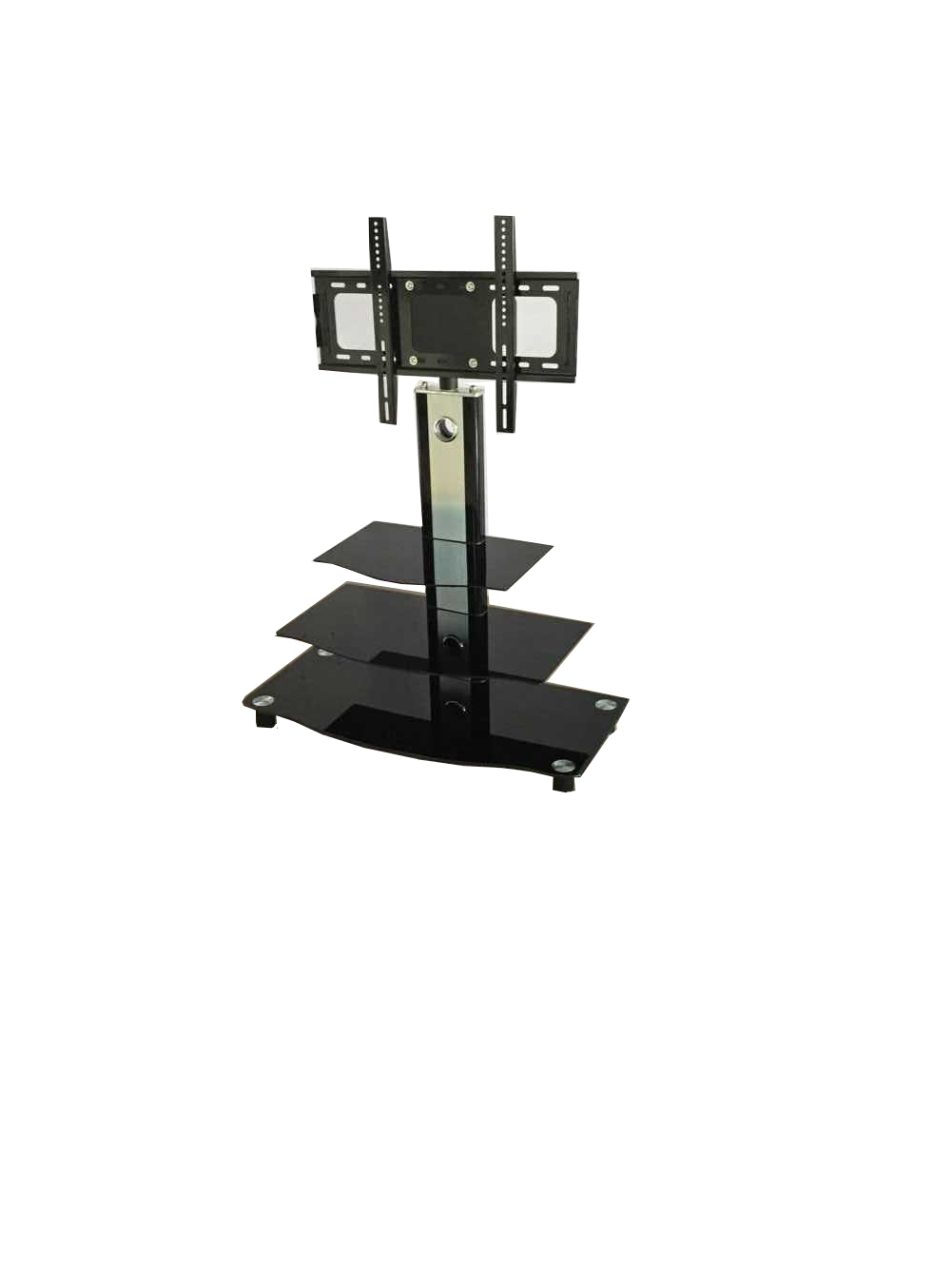 Tv Unit With Brackets – Tjs Furniture Throughout Modern Mobile Rolling Tv Stands With Metal Shelf Black Finish (View 10 of 20)