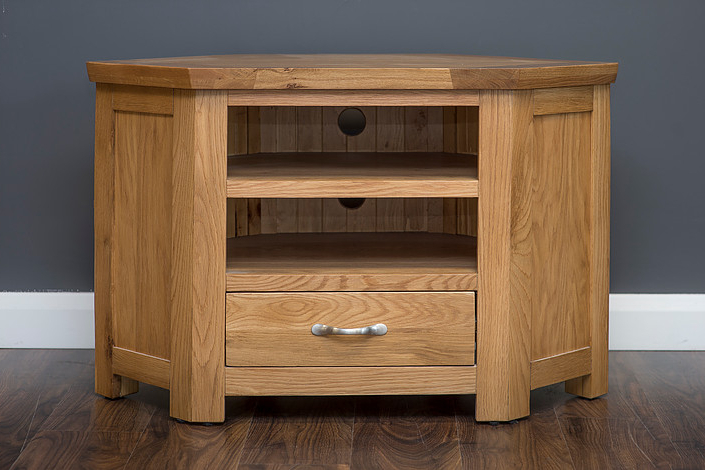 Tv Units & Corner Units : Newry Furniture Centre For In Sherbourne Oak Corner Tv Stands (View 4 of 20)