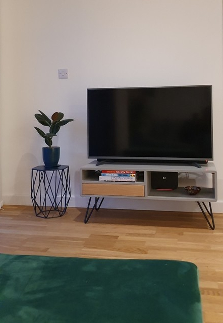 Ukan Tv Stand, Grey And Oak | Made With Bromley Oak Tv Stands (View 12 of 20)