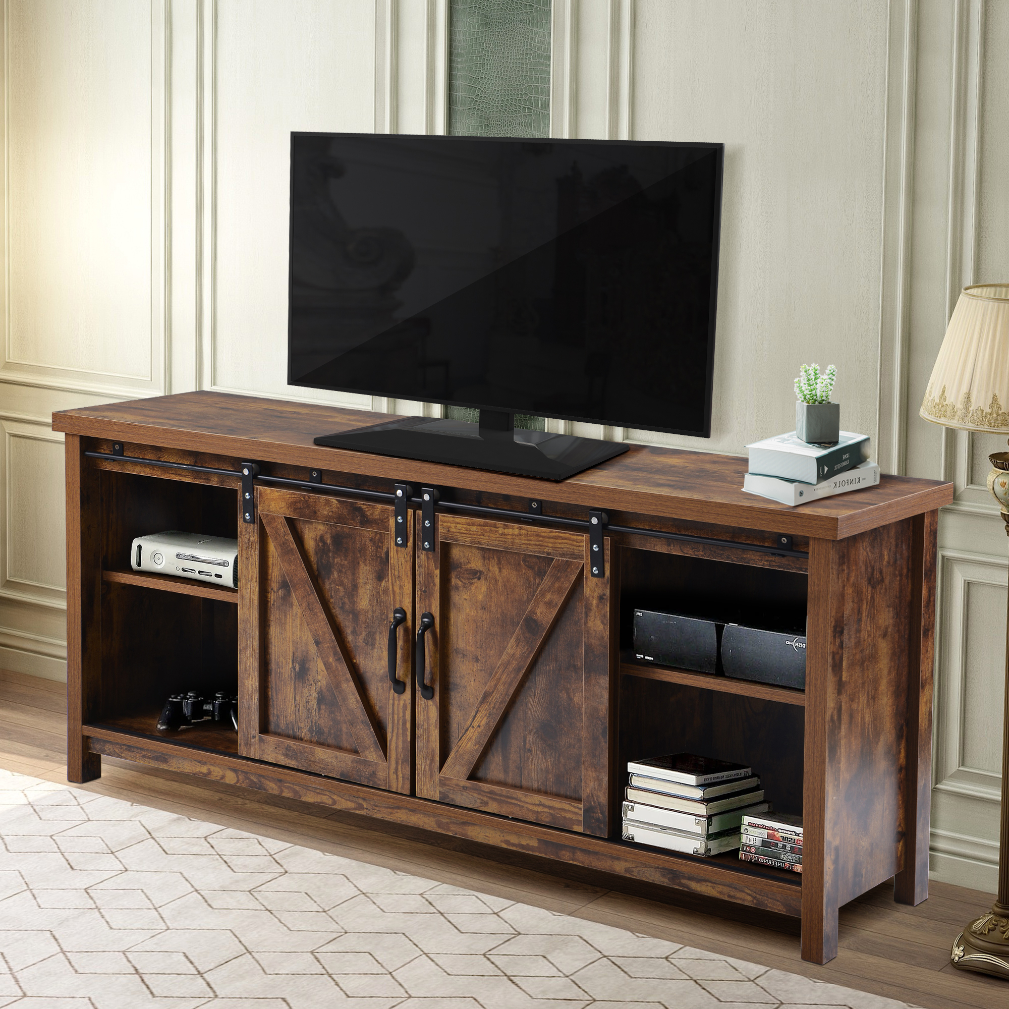 Universal Tv Stand, Modern Wood Tv Stands, Tv Stand For Inside Modern 2 Glass Door Corner Tv Stands (View 1 of 20)
