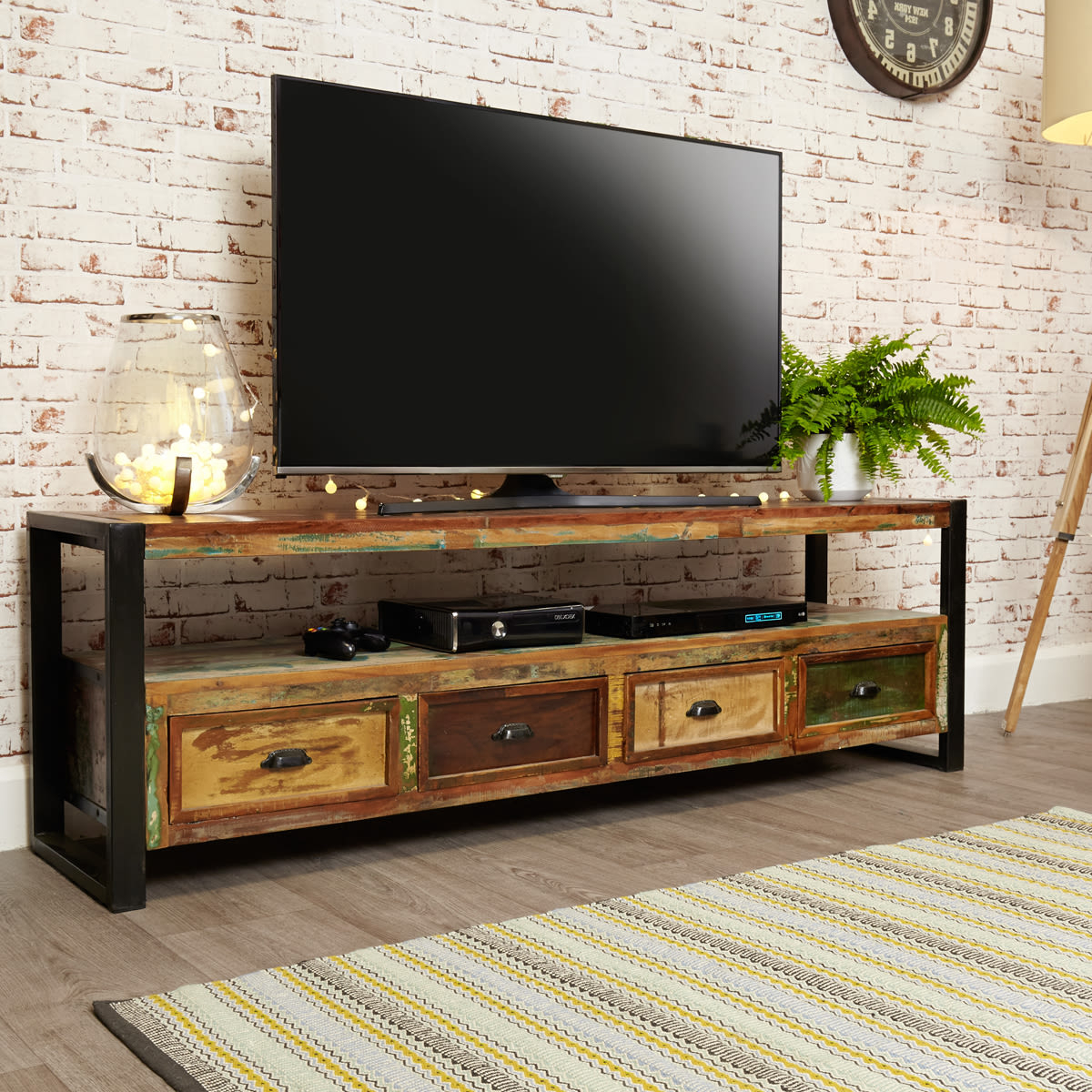 Urban Chic Open Widescreen Television Cabinet Was £ (View 2 of 20)