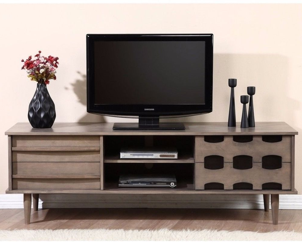 Vanda Entertainment Center 70 Inch Tv Stand With 2 In Horizontal Or Vertical Storage Shelf Tv Stands (View 5 of 20)