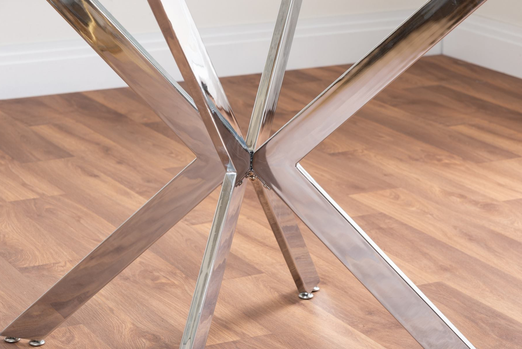 Venice Glass Chrome Table & 4 Milan Chairs | Furniturebox In Milan Glass Tv Stands (View 15 of 20)