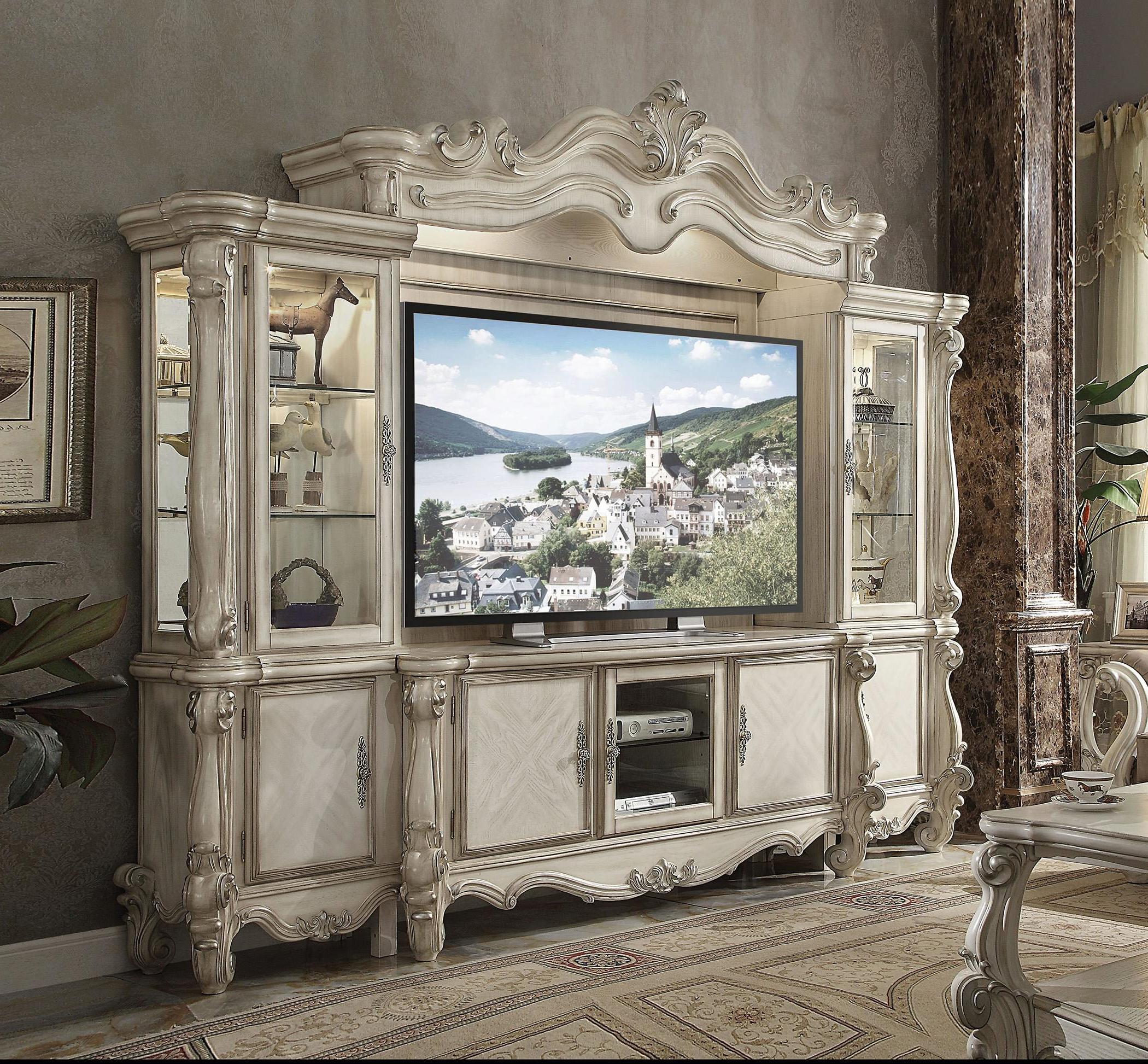 Victorian Cherry Oak Entertainment & Tv Stand Set Dresden Regarding Fulton Corner Tv Stands (View 13 of 20)