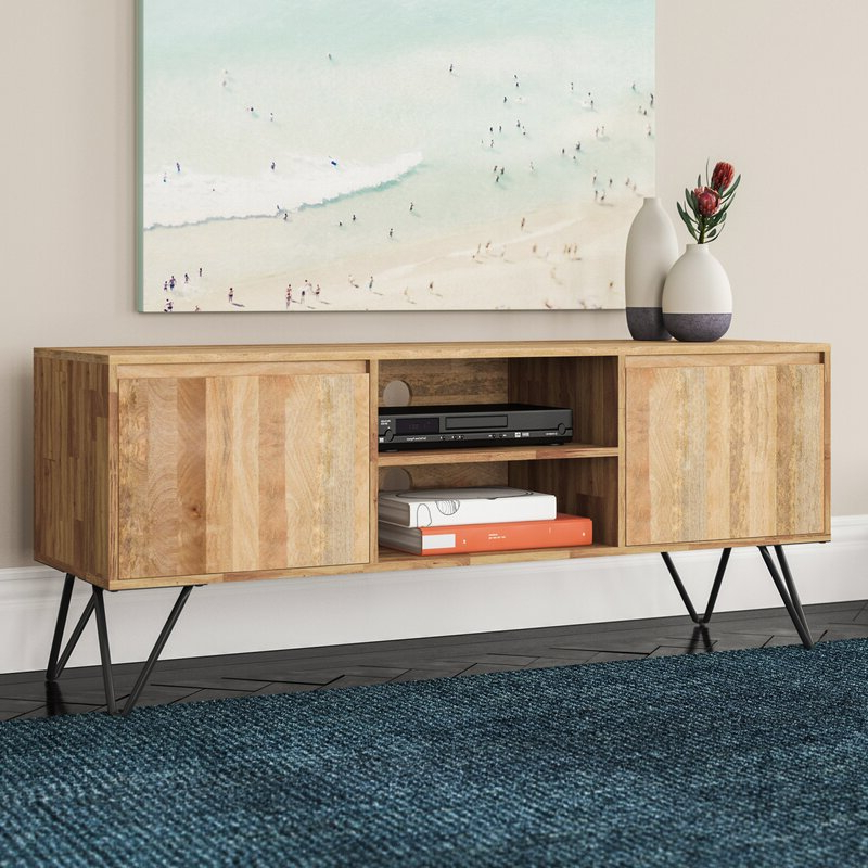 """Vincennes Solid Wood Tv Stand For Tvs Up To 65 Inches Regarding Solid Wood Tv Stands For Tvs Up To 65"""" (View 1 of 20)"""