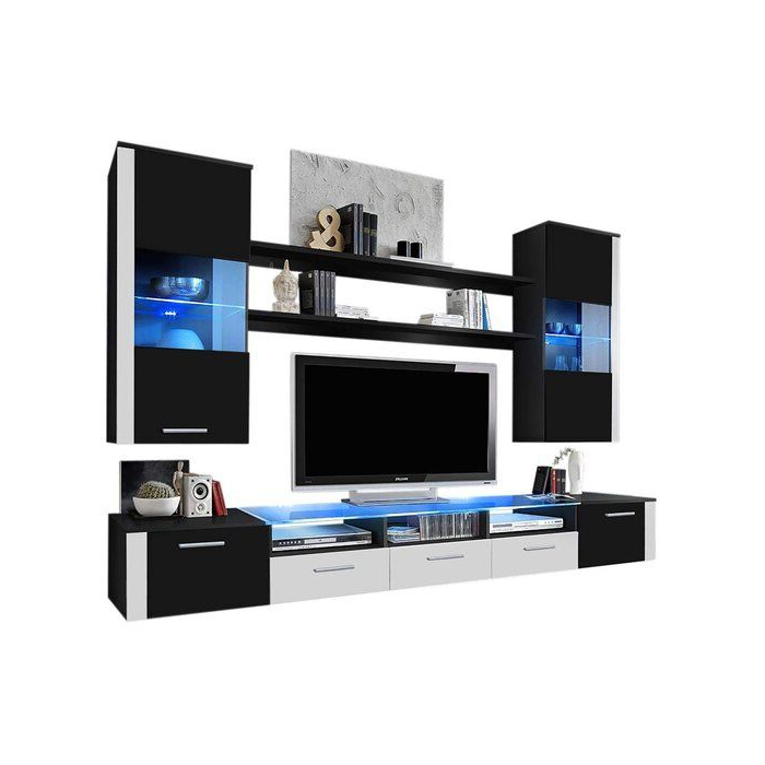 """Voight Entertainment Center For Tvs Up To 65"""" In 2020 Within 57'' Tv Stands With Led Lights Modern Entertainment Center (View 2 of 20)"""