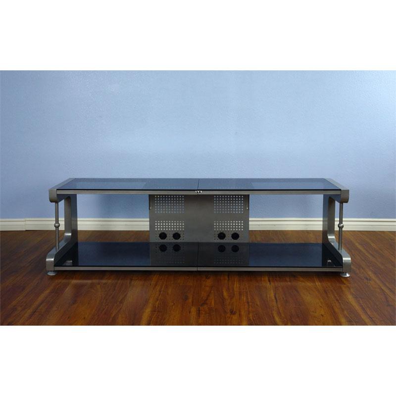 Vti 20800 Series 75 Tv Stand Av Rack Silver Frame Black Inside Tv Stands Fwith Tv Mount Silver/black (View 7 of 20)