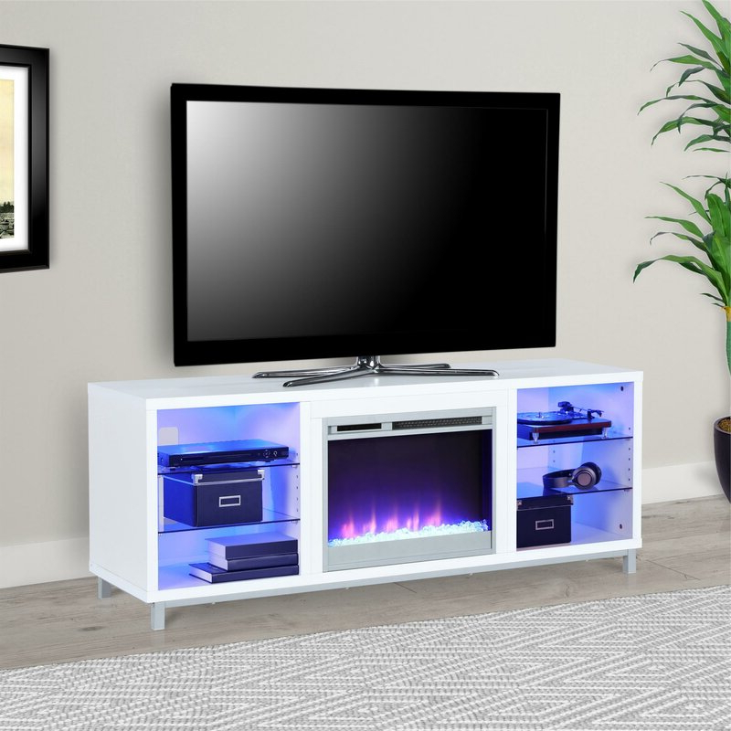 """Wade Logan Hetton Tv Stand For Tvs Up To 70"""" With Regarding Lorraine Tv Stands For Tvs Up To 70"""" (View 12 of 20)"""