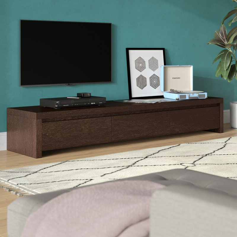 """Wade Logan® Roscoe Tv Stand For Tvs Up To 88"""" & Reviews Throughout Gosnold Tv Stands For Tvs Up To 88"""" (View 3 of 20)"""