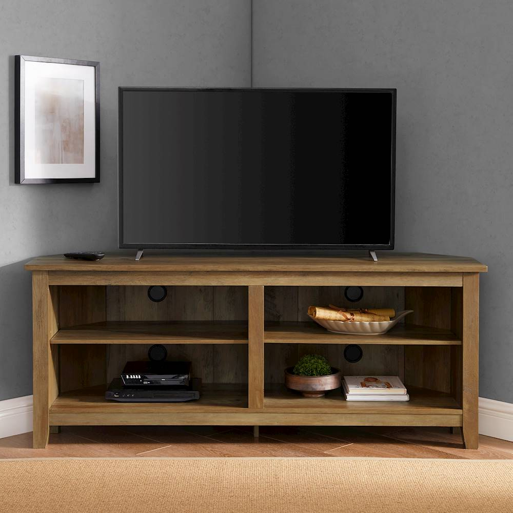"""Walker Edison Corner Open Shelf Tv Stand For Most Flat Pertaining To Camden Corner Tv Stands For Tvs Up To 60"""" (View 5 of 20)"""