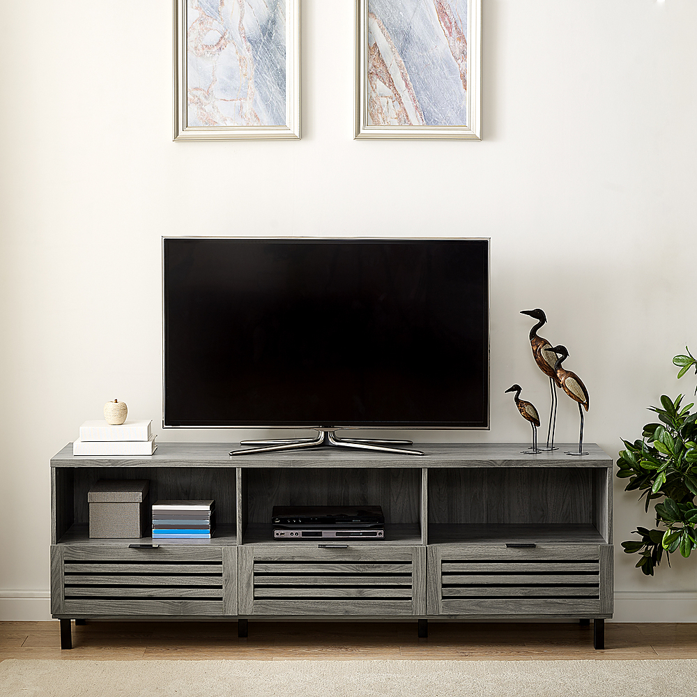 Walker Edison Jackson Tv Stand Cabinet For Most Flat Panel Intended For Corona Grey Flat Screen Tv Unit Stands (View 8 of 20)