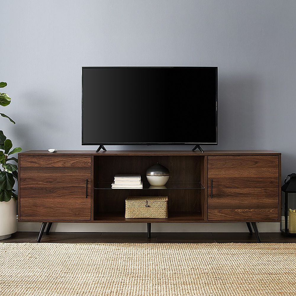 Walker Edison – Mid Century Modern Tv Stand For Most Tvs For Walker Edison Contemporary Tall Tv Stands (View 1 of 20)