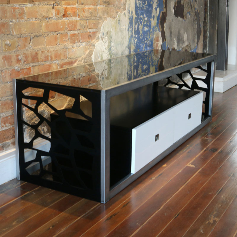 Walker Edison Modern Mosaic 65 Inch Tv Stand (silver And With Solo 200 Modern Led Tv Stands (View 17 of 20)
