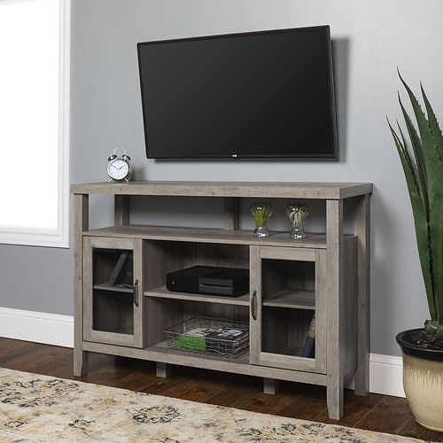 Walker Edison – Rustic Farmhouse Tall Tv Stand For Most Within Walker Edison Contemporary Tall Tv Stands (View 10 of 20)