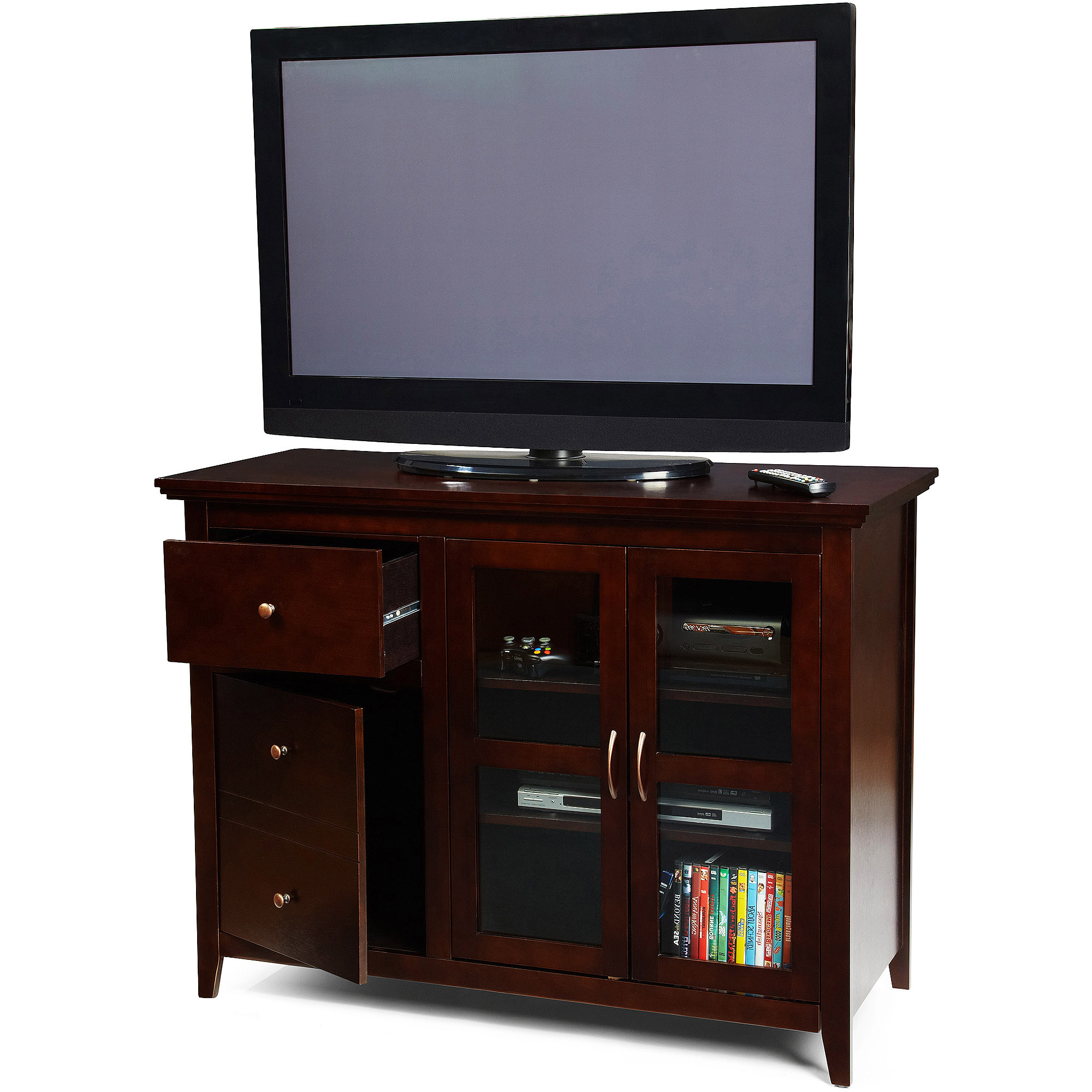 """Walker Edison Tv Stand For Tvs Up To 48"""", Multiple Colors Regarding Vasari Corner Flat Panel Tv Stands For Tvs Up To 48"""" Black (View 3 of 20)"""