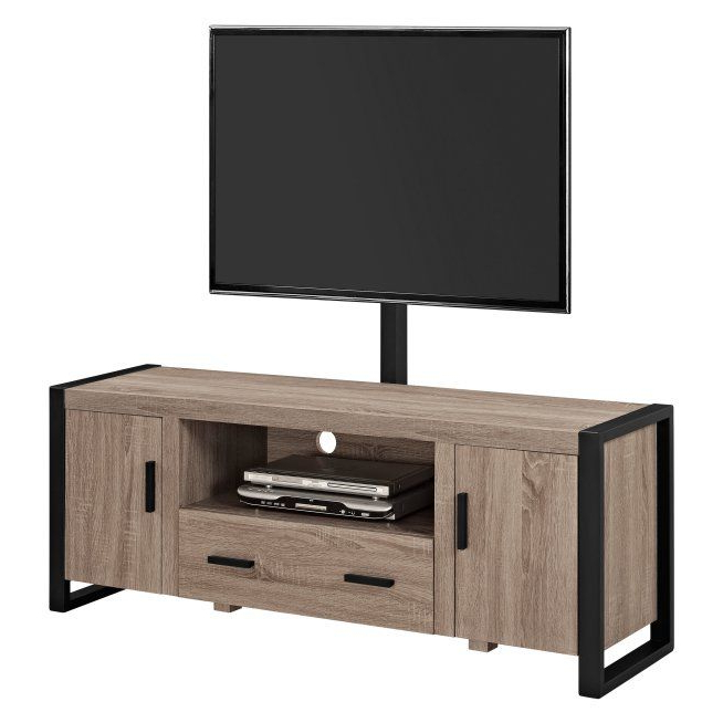 Walker Edison Urban Blend Tv Stand With Mount   Hayneedle Pertaining To Walker Edison Contemporary Tall Tv Stands (View 4 of 20)