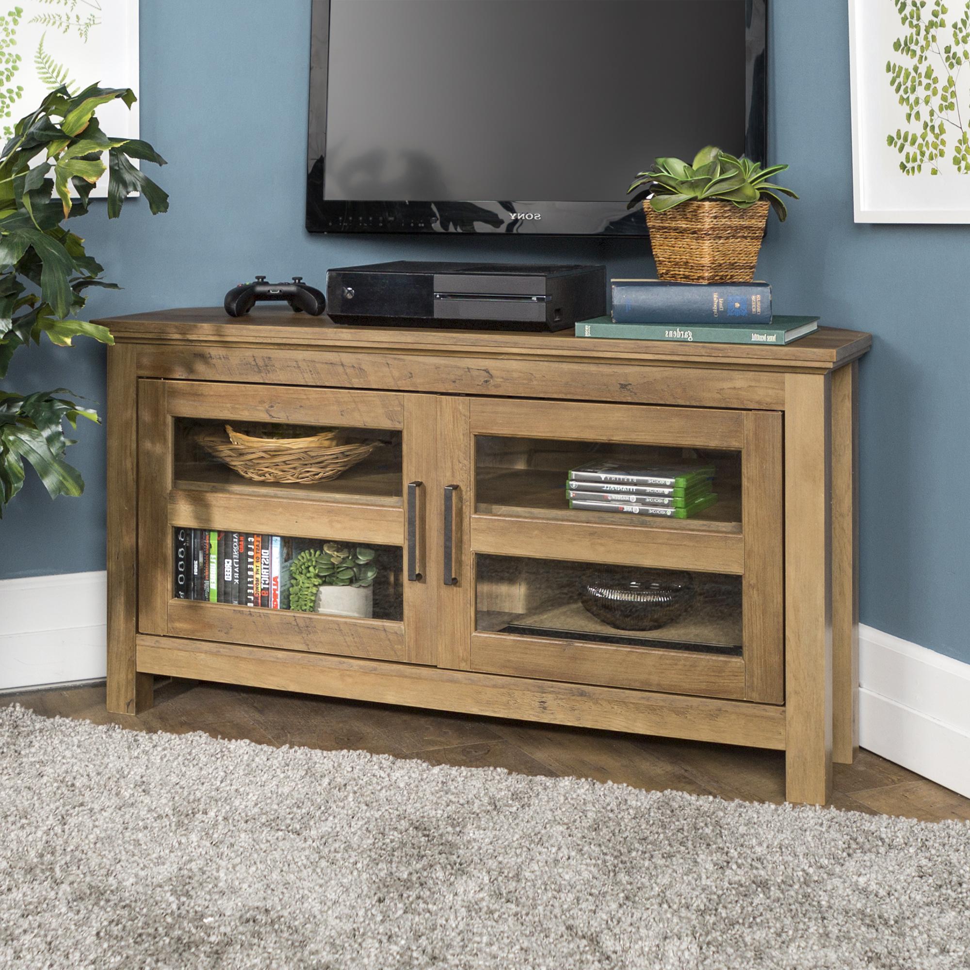 """Walker Edison Wood Corner Tv Stand For Tvs Up To 48 For Lionel Corner Tv Stands For Tvs Up To 48"""" (View 7 of 20)"""