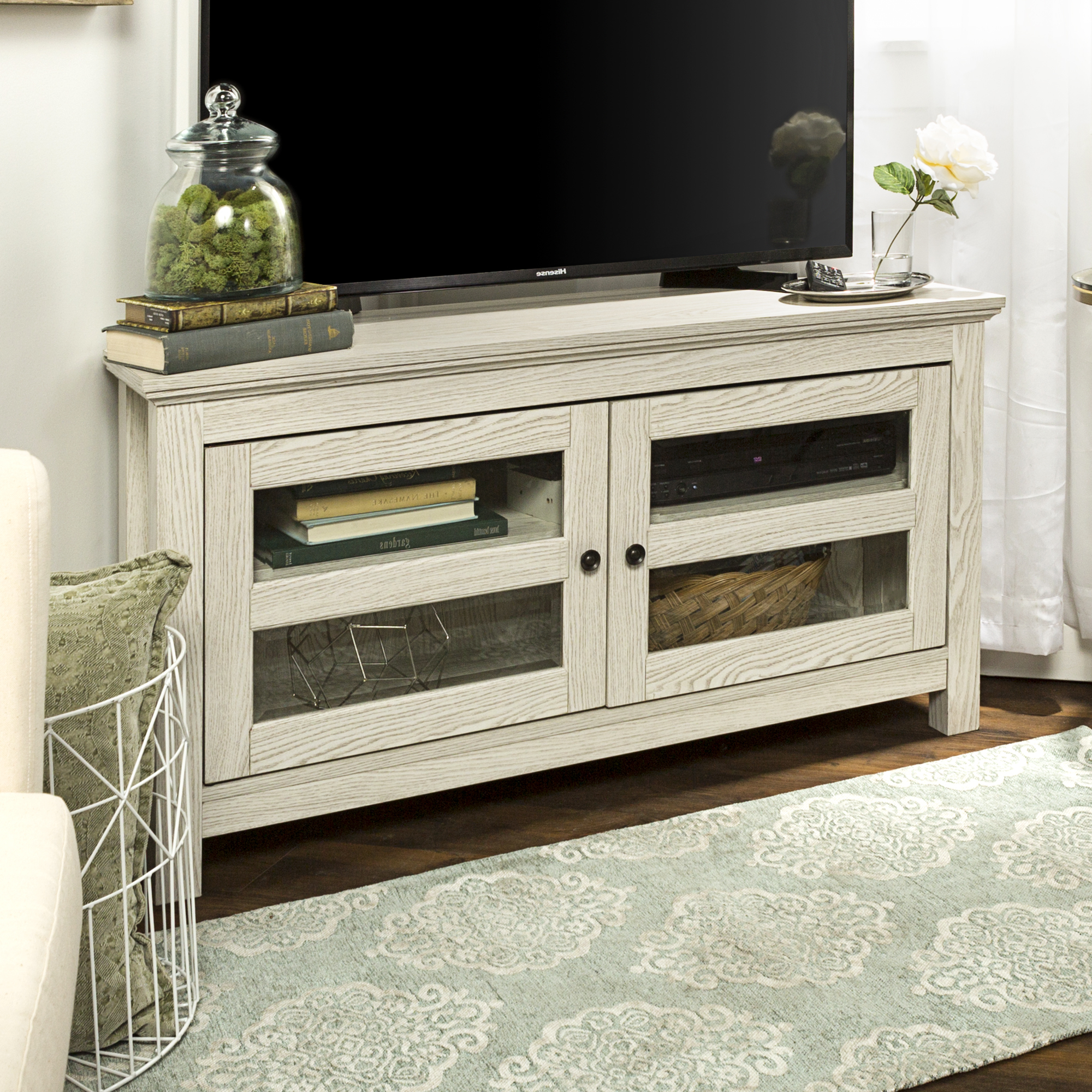 """Walker Edison Wood Corner Tv Stand For Tvs Up To 48 With Regard To Spellman Tv Stands For Tvs Up To 55"""" (View 9 of 20)"""