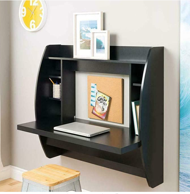 Wall Mounted Floating Computer Desk,with Storage Shelves With Regard To Space Saving Gaming Storage Tv Stands (View 16 of 20)