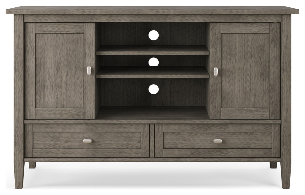 """Warm Shaker Solid Wood 47 In Wide Tv Media Stand & For Tvs For Mission Corner Tv Stands For Tvs Up To 38"""" (View 2 of 20)"""