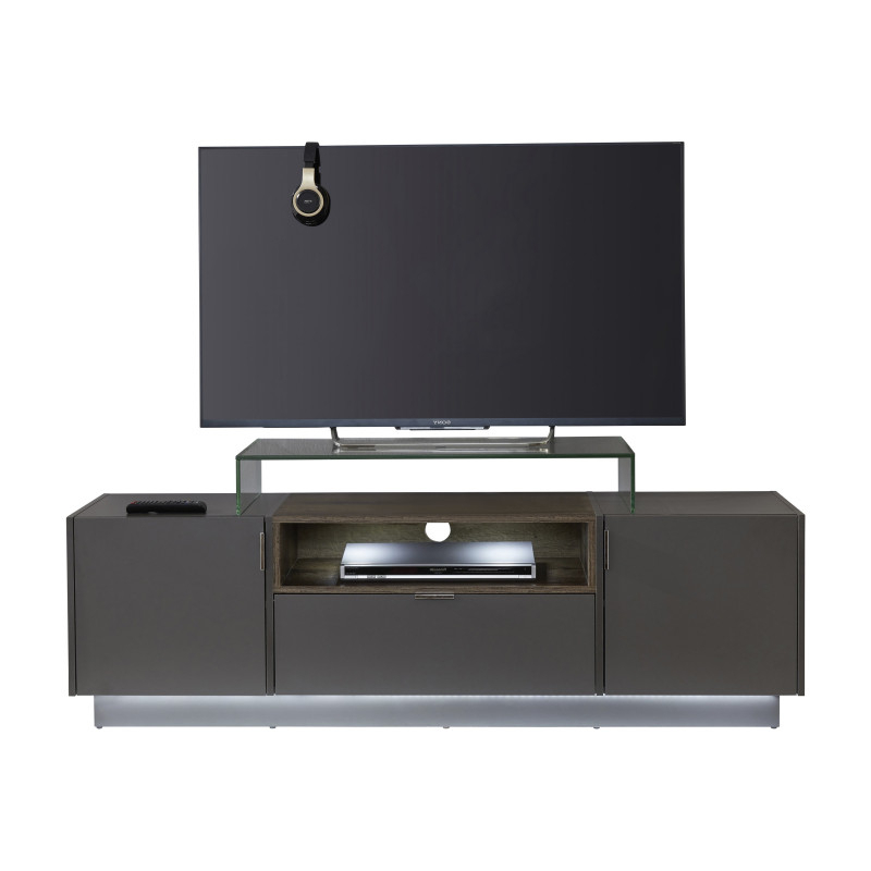Washington 160cm Grey Tv Unit With Lights – Tv Stands Within Monza Tv Stands (View 12 of 20)