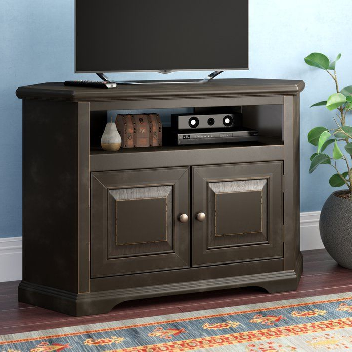 """Wentzel Corner Tv Stand For Tvs Up To 43""""   Tv Stand Pertaining To Mathew Tv Stands For Tvs Up To 43"""" (View 3 of 20)"""