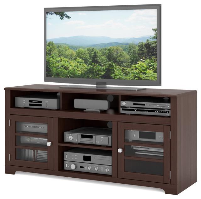 """West Lake 60"""" Television Bench, Dark Espresso Regarding Zena Corner Tv Stands (View 6 of 20)"""
