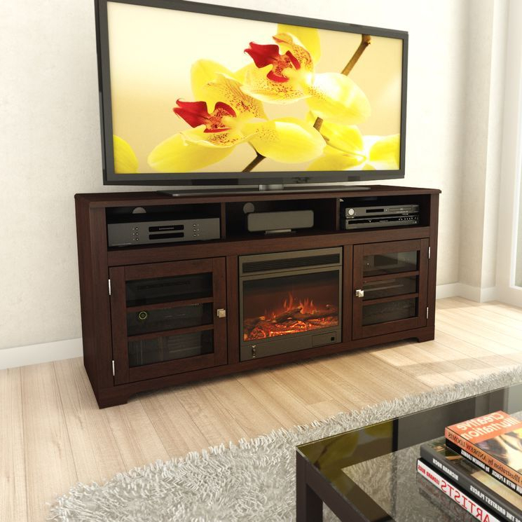 """West Lake 60"""" Tv Stand With Electric Fireplace   Electric In Bromley Grey Corner Tv Stands (View 8 of 20)"""