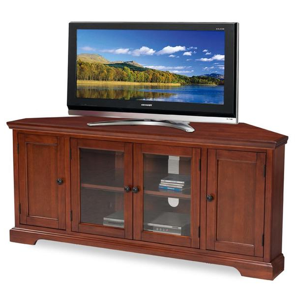 Westwood Cherry 60 Inch Corner Tv Console – 16100896 Within Bromley Oak Corner Tv Stands (View 7 of 20)
