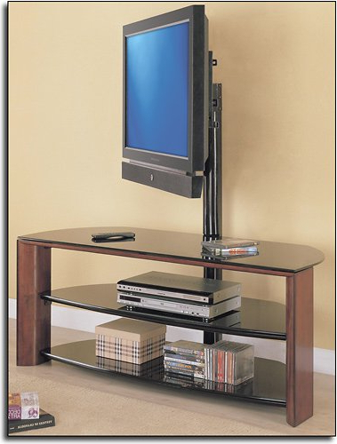 """Whalen 3 In 1 Tv Stand Instructions Throughout Whalen Furniture Black Tv Stands For 65"""" Flat Panel Tvs With Tempered Glass Shelves (View 8 of 20)"""