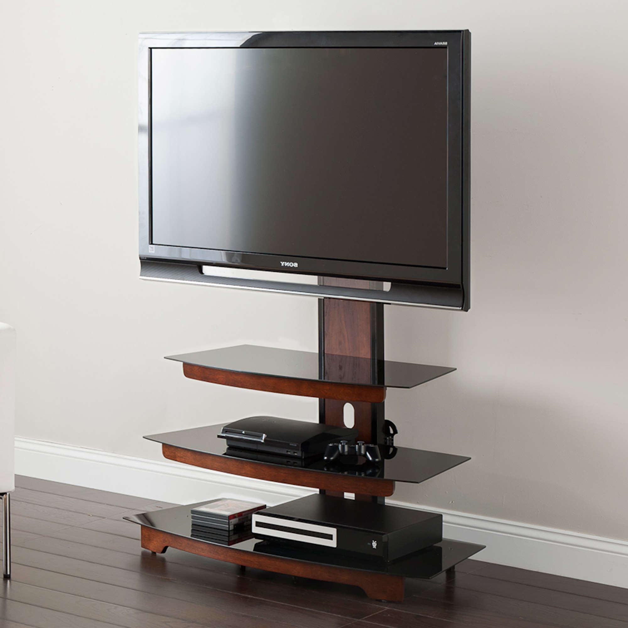 """Whalen 3 Tier Television Stand For Tvs Up To 50"""", Perfect With Regard To Aaliyah Floating Tv Stands For Tvs Up To 50"""" (View 13 of 20)"""