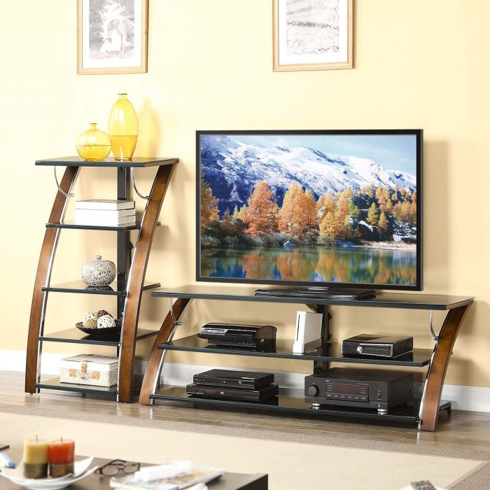 """Whalen Furniture – 75 Inch Tv Console Fits Most Tvs Up To Pertaining To Whalen Furniture Black Tv Stands For 65"""" Flat Panel Tvs With Tempered Glass Shelves (View 11 of 20)"""