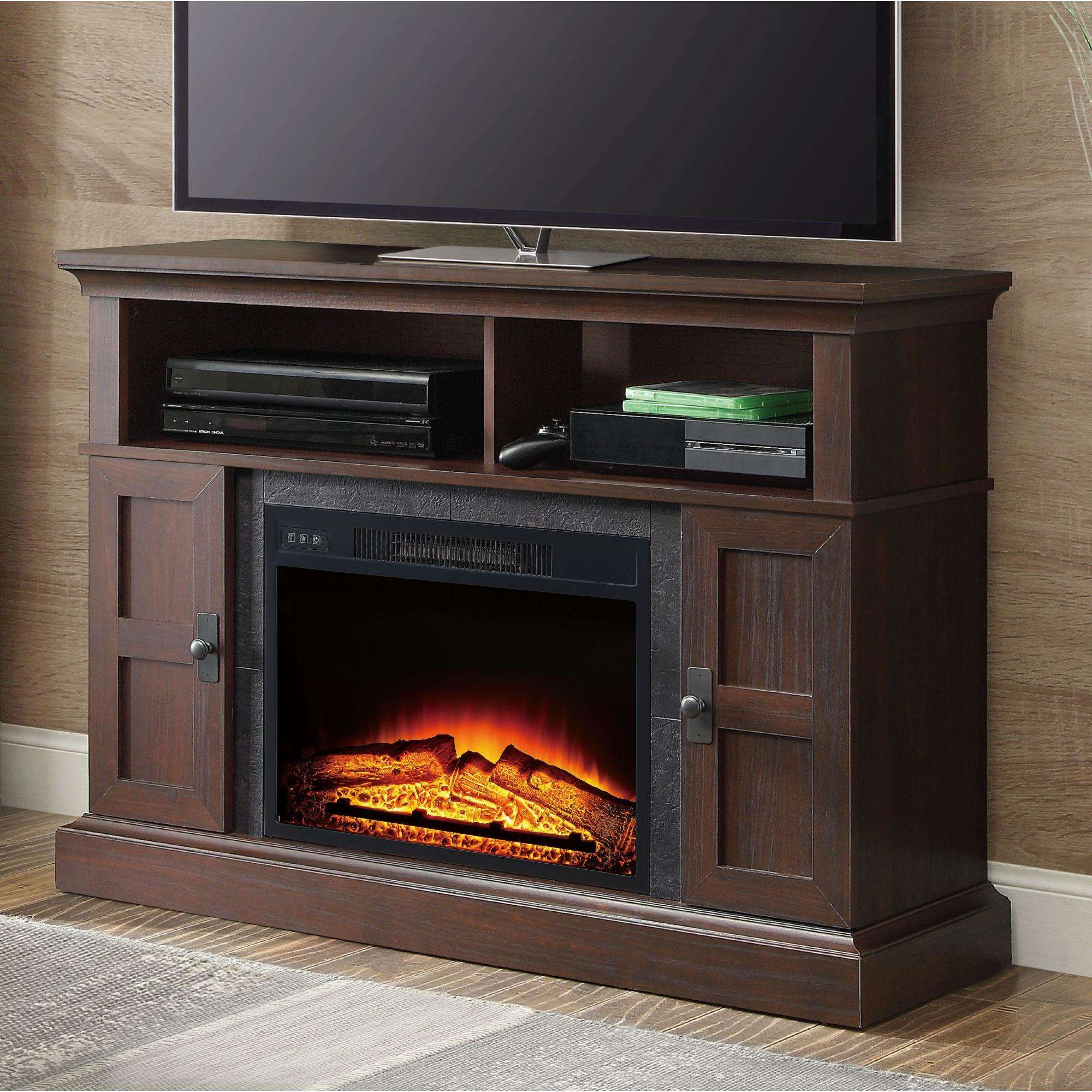 Whalen Media Fireplace For Your Home Television Stand Fits With Mainstays 4 Cube Tv Stands In Multiple Finishes (View 9 of 20)