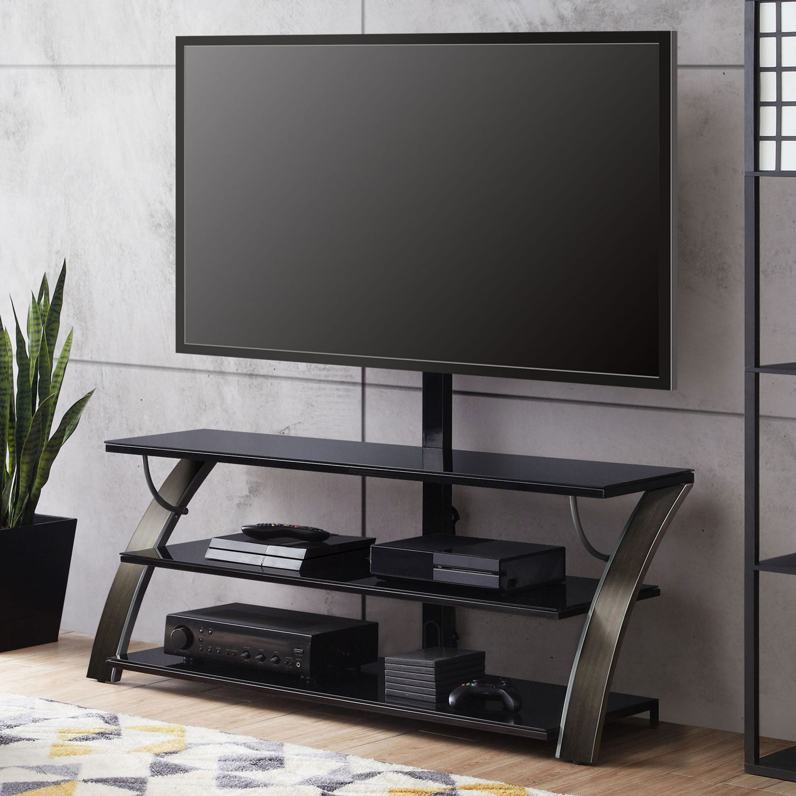 """Whalen Payton 3 In 1 Flat Panel Tv Stand For Tvs Up To 65 For Stamford Tv Stands For Tvs Up To 65"""" (View 13 of 20)"""