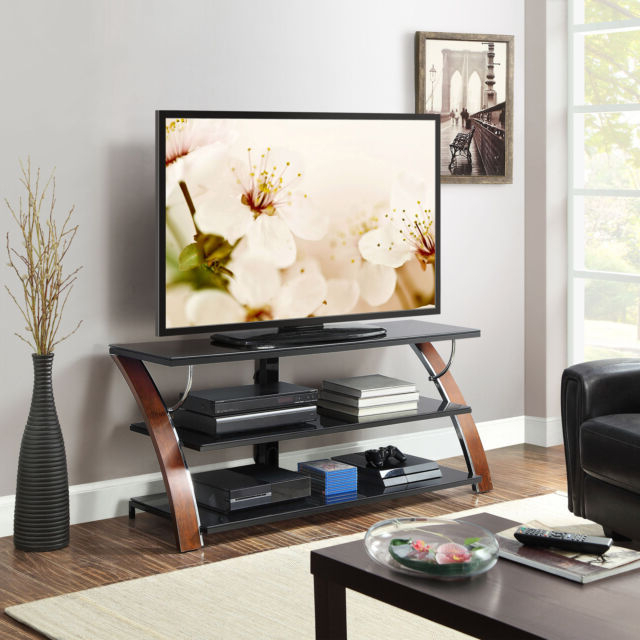 Whalen Payton 3 In 1 Flat Panel Tv Stand For Tvs Up To 65 Within Tv Stands With Led Lights In Multiple Finishes (View 11 of 20)