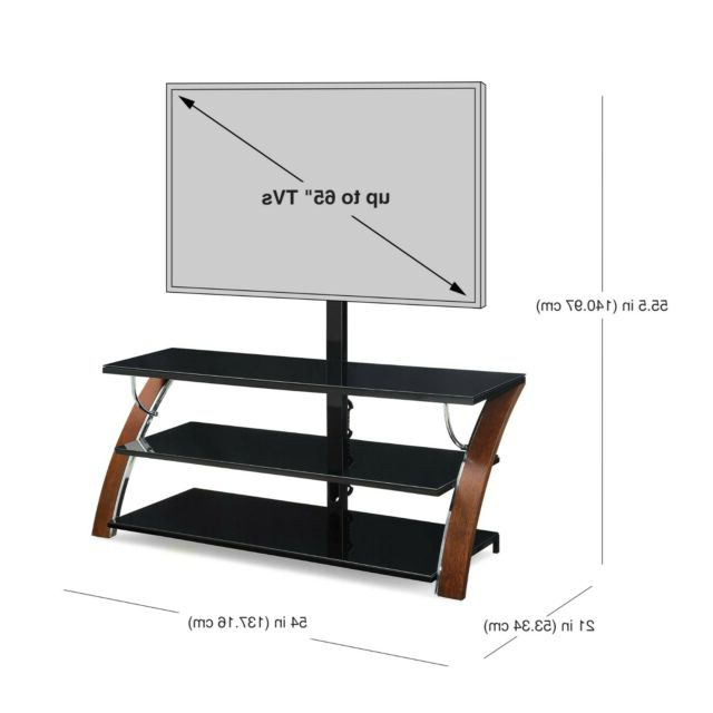 Whalen Payton Brown Cherry 3 In 1 Flat Panel Tv Stand For Throughout Whalen Payton 3 In 1 Flat Panel Tv Stands With Multiple Finishes (View 11 of 20)