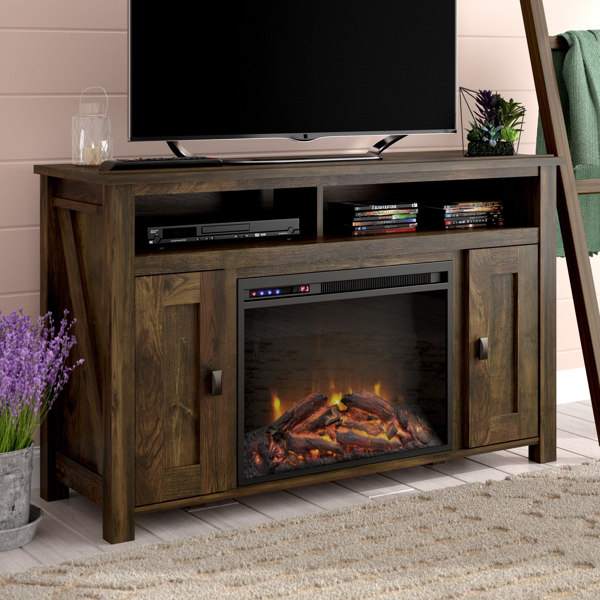 """Whittier Tv Stand For Tvs Up To 50"""" With Electric Regarding Allegra Tv Stands For Tvs Up To 50"""" (View 15 of 20)"""