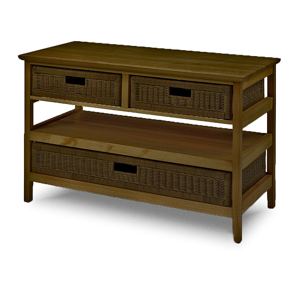 Wicker Storage Tv Unit – Television Stand – Conservatory Intended For Lucy Cane Cream Corner Tv Stands (View 4 of 20)