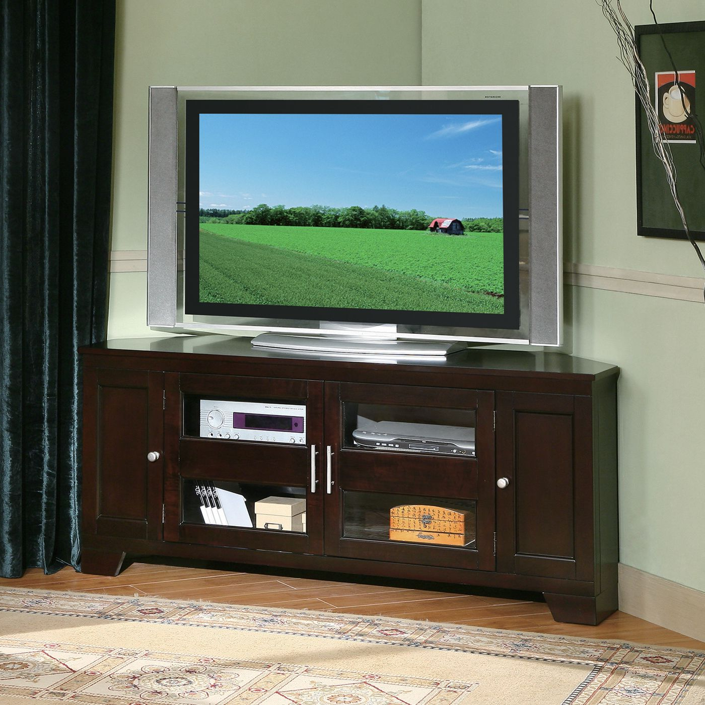 """Williams Home Furnishings 5191 60 In Corner Tv Stand With Regard To Corner Tv Stands For Tvs Up To 60"""" (View 1 of 20)"""