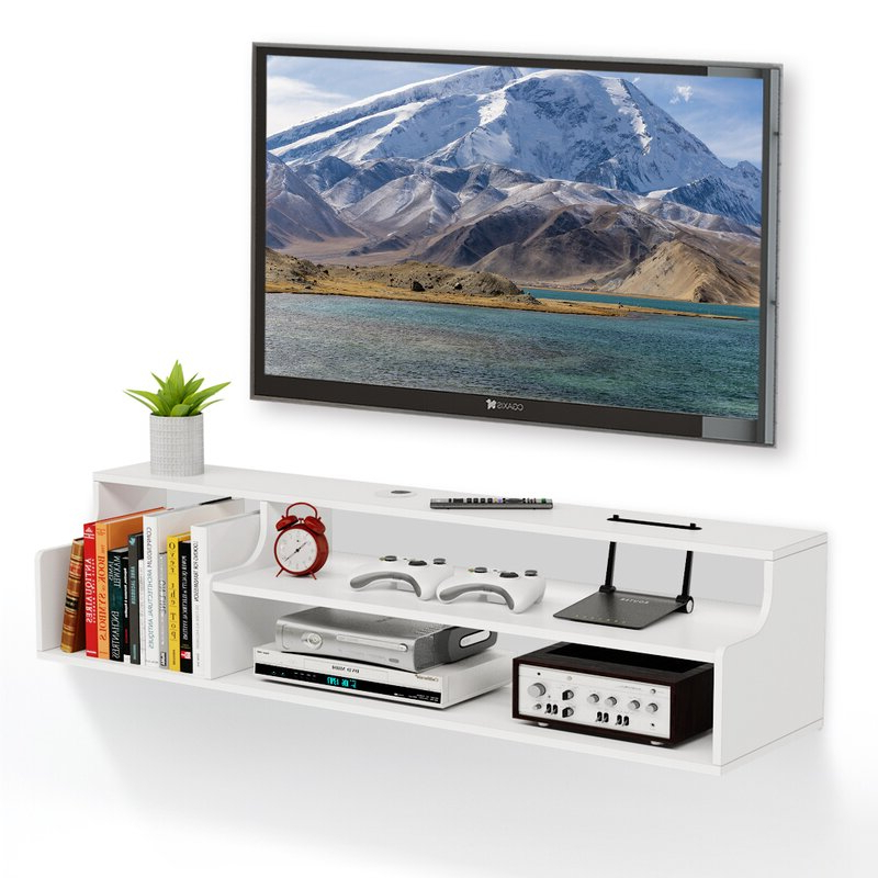 """Winston Porter Amellia Floating Tv Stand For Tvs Up To 50 Inside Aaliyah Floating Tv Stands For Tvs Up To 50"""" (View 5 of 20)"""